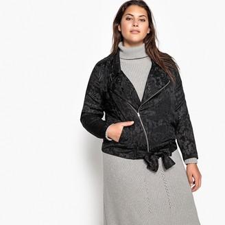 Castaluna Plus Size Floral Jacquard Tie-Waist Jacket