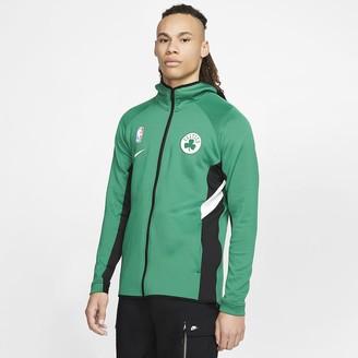 Nike Mens NBA Hoodie Boston Celtics Therma Flex Showtime