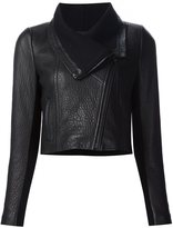 Yigal Azrouel cropped biker jacket - women - Leather - 2