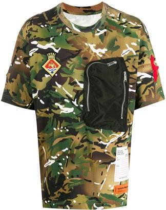 Heron Preston chest-pocket camouflage T-shirt