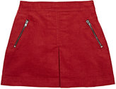 Marie Chantal CORDUROY MINISKIRT-RED SIZE 8