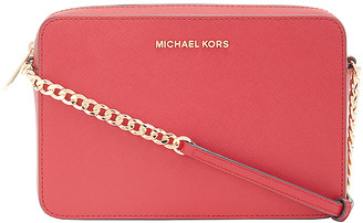 Michael Kors Women's Crossbodies SCARLET - Scarlet Jet Set Leather Crossbody Bag