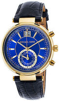 Michael Kors MK2425 Women's Sawyer Navy Blue Genuine Leather Blue Dial