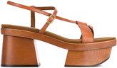 Stella McCartney Atlea platform sandals - women - wood/Leather/rubber - 36