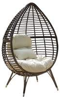 Christopher Knight Home Cutter Teardrop Wicker Patio Lounge Chair with Cushion - Brown