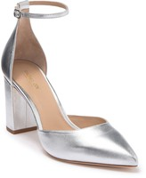 Rachel Zoe Haidyn Leather Block Heel Ankle Strap Pump