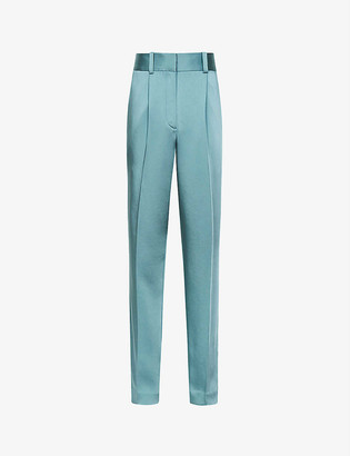 Reiss Elyssah straight high-rise satin trousers
