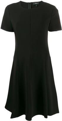 Theory short flared dress
