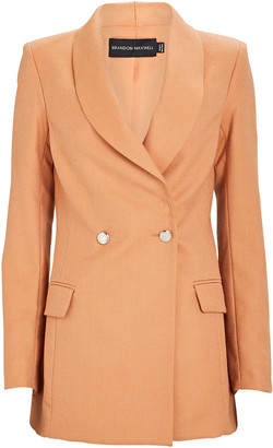 Brandon Maxwell Double-Breasted Silk-Wool Blazer