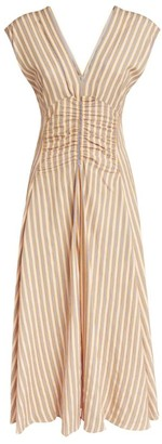 Sandro Paris Striped Midi Dress