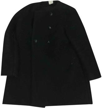 Douuod Black Wool Coats