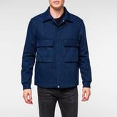 Paul Smith Men's Indigo Cotton And Wool-Blend Denim-Effect Shirt Jacket