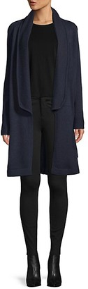 Qi Longline Wool Cashmere Cardigan Sweater