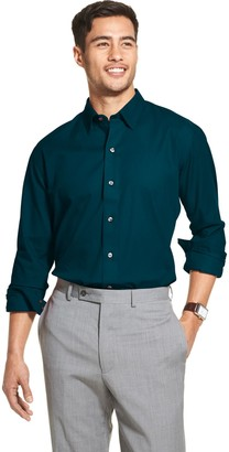 Van Heusen Men's Flex Classic-Fit Non-Iron Sateen Striped Button-Down Shirt