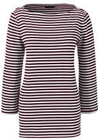 Classic Women's Petite Sailor Tee-Burgundy Stripe