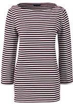 Classic Women's Tall Sailor Tee-Burgundy Stripe