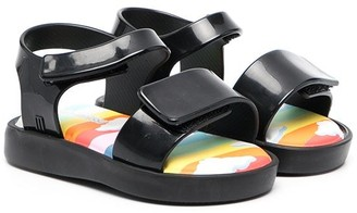 Mini Melissa Touch-Strap Flat Sandals
