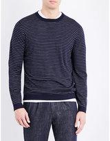 Brunello Cucinelli Striped Wool And Cashmere-blend Jumper