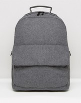 Asos Backpack In Gray Marl Melton