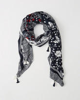 Abercrombie & Fitch Mixed Pattern Scarf