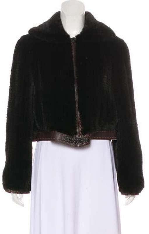 7dae58c0 Zip-Up Mink Jacket Brown Zip-Up Mink Jacket