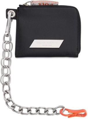 Heron Preston Leather Wallet W/ Detachable Chain