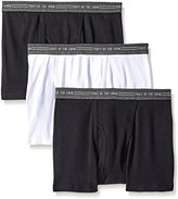 Fruit of the Loom Men's Everyday Active Black Gray Trunk Boxer Brief(Pack of 3)