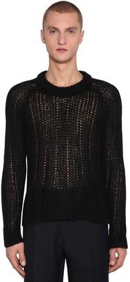 Prada Crewneck Mohair Blend Sweater