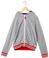 Petit Bateau Boys' Striped Hooded Sweatshirt
