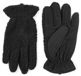 Topman Mixed Media Gloves