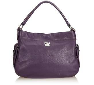 MCM Purple Leather Hobo