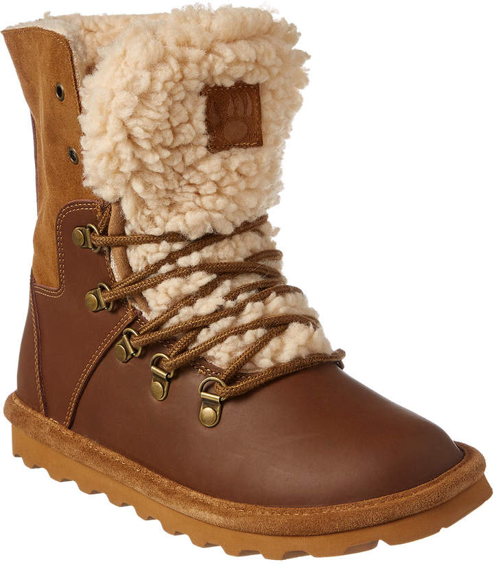 BearPaw Devin Never Wet Leather & Suede Fold Down Boot