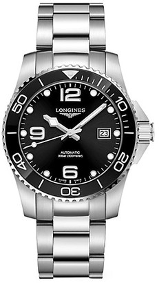 Longines HydroConquest Stainless Steel & Ceramic Bracelet Automatic Diving Watch