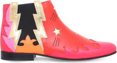 Gucci Bluebell embellished leather ankle boots 8-9 years