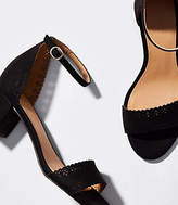 LOFT Eyelet Block Heel Sandals