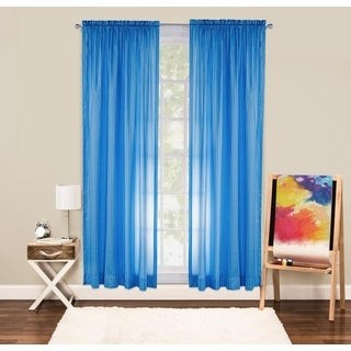Crayola Serpentine Stripe 84 Inch Rod Pocket Single Curtain Panel