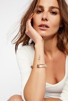 Free People Lucite Metal Open Cuff