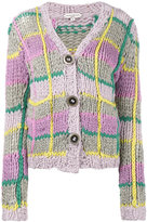 Natasha Zinko knitted check cardigan
