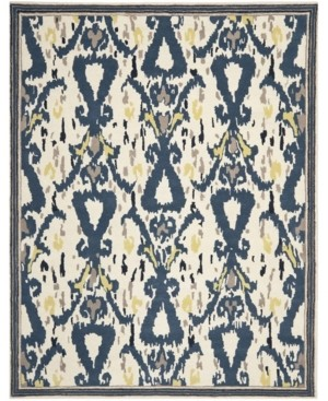 Martha Stewart Collection Ikat Pendant MSR4553B Bone 4' x 6' Area Rug