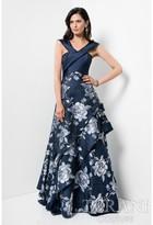 Terani Evening - Off Shoulder Layered Floral Print A-line Dress 1711M3387