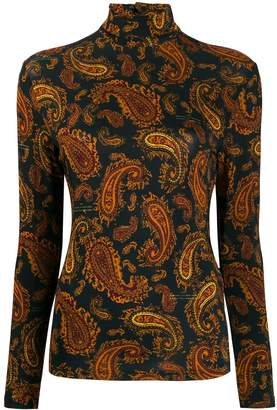 Rokh Paisley Mix roll-neck jumper