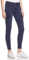 J Brand Houlihan Skinny Cargo Jeans in Distressed Black Iris