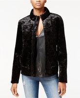 Rachel Roy Velvet Bomber Jacket, Only at Macy's