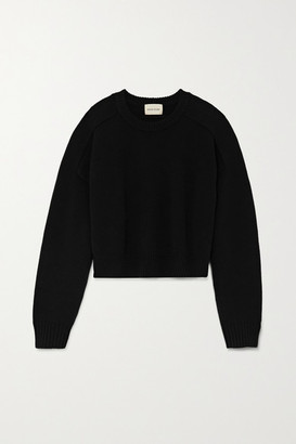 LOULOU STUDIO Bruzzi Cropped Wool And Cashmere-blend Sweater - Black