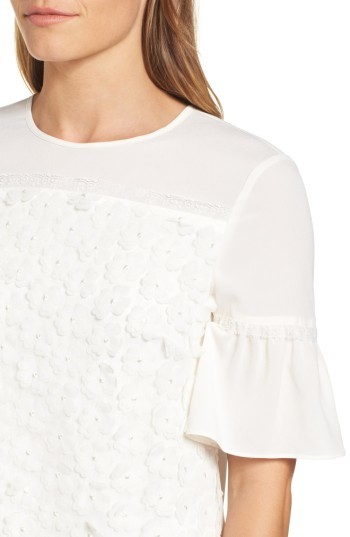 Draper James Women's Fleurette Lace Top
