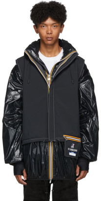 K-Way Afterhomework Black Edition Polar Yannick Two-Layers Vest and Jacket