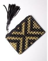 Claflin, Thayer & Co. Black/Gold Xxx Tiled Clutch