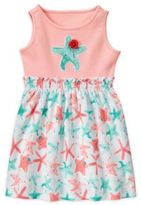 Gymboree 2-Piece Starfish Dress and Diaper Cover Set in Pink