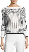 Rag & Bone Daniela Cable-Knit Sweater, White