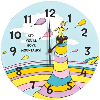 "Trend Lab Dr. Seuss ""Kid You'll Move Mountains"" Wall Clock"